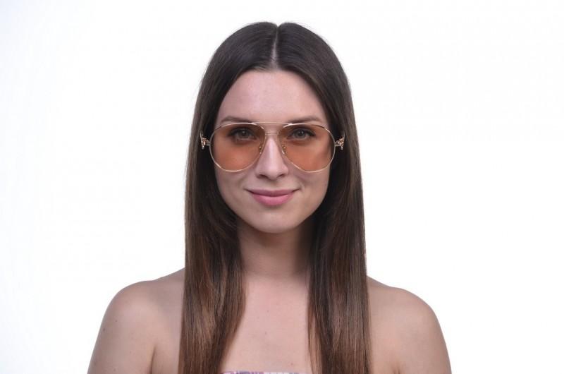 Женские очки капли 1172peach, фото 3