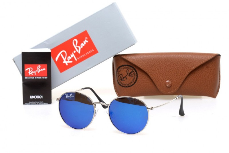 Ray Ban Round Metal 6002-blue, фото 30