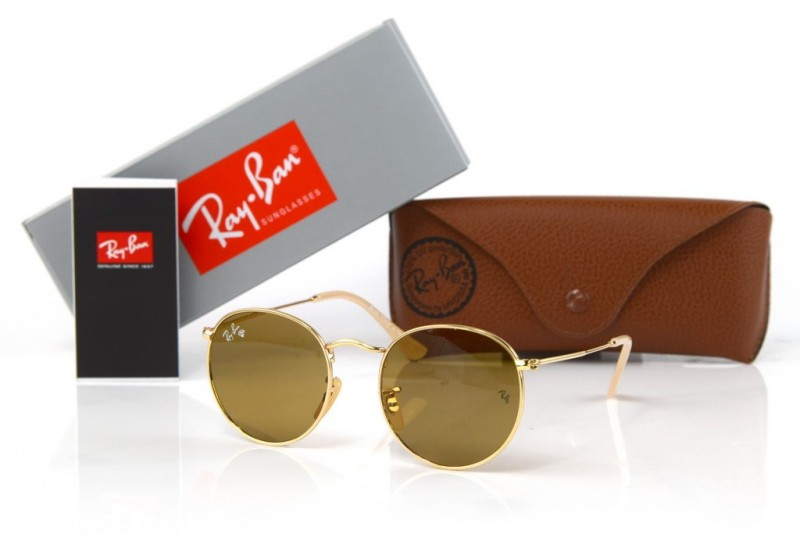 Ray Ban Round Metal 3447-brown-g, фото 30