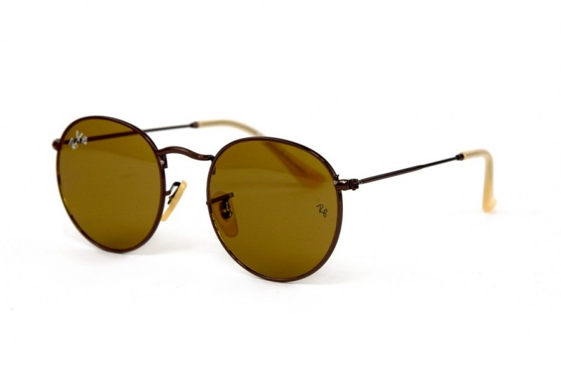 Ray Ban Round Metal 3447-brown-br, фото 1