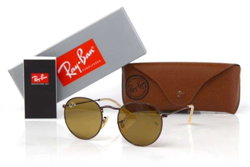Ray Ban Round Metal 3447-brown-br, фото 30