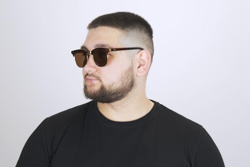 Мужские очки  2021 года 3016-brown-M, фото 4