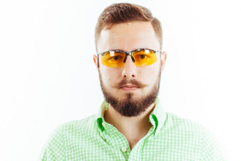 Водительские очки S01KG yellow, фото 3