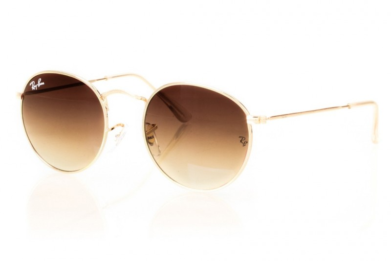 Ray Ban Round Metal 3447d-brown, фото 1