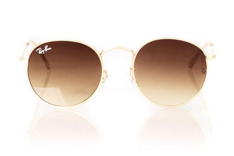 Ray Ban Round Metal 3447d-brown, фото 2