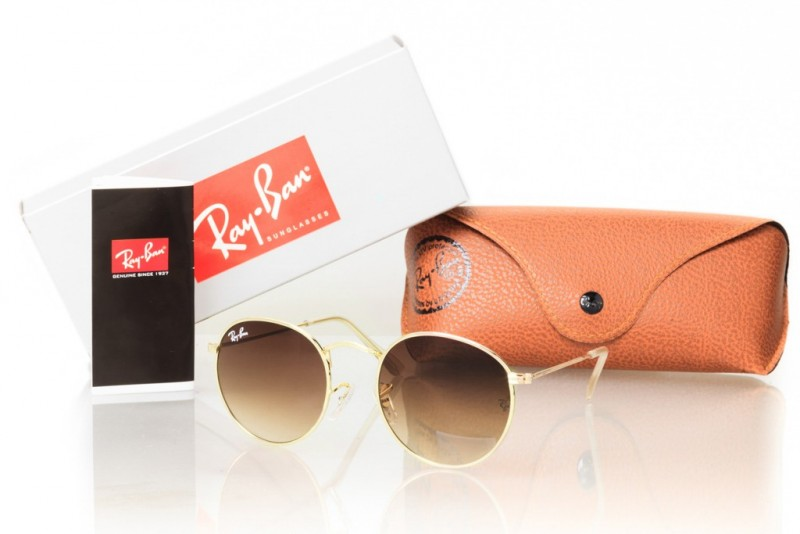 Ray Ban Round Metal 3447d-brown, фото 30