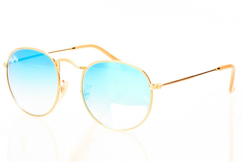 Ray Ban Round Metal 3447seabreeze-gold, фото 1