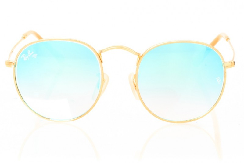 Ray Ban Round Metal 3447seabreeze-gold, фото 2