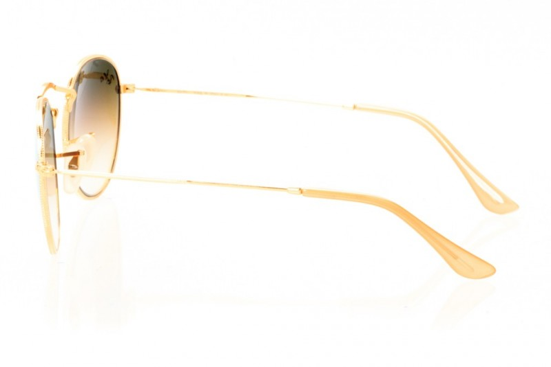 Ray Ban Round Metal 3447seabreeze-gold, фото 3